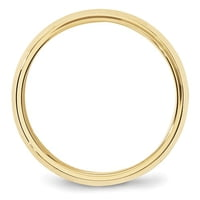 10K Yellow Gold 6mm Bevel Edge Comfort Fit Band