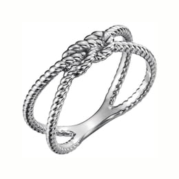 Silver Rope Knot Ring