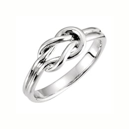 Silver Knot Design Ring