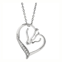 Sterling Silver Horse Silhouette Necklace