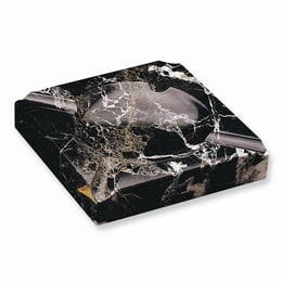 Black Solid Marble Square Cigar Ashtray