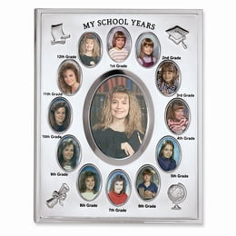Silver-Plated My School Years Photo Frame