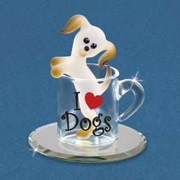 Pup In A Cup Glass Figurine