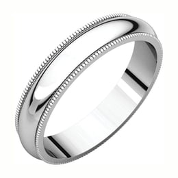 Sterling Silver Milgrain Wedding Band
