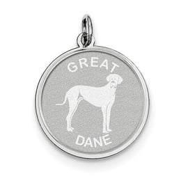 Sterling Silver Great Dane Disc Charm
