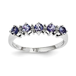 Sterling Silver Tanzanite And Diamond Ring