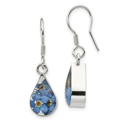 Silver Forget Me Not Dangle Earrings