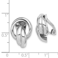Sterling Silver Knot Design Clip Back Non-Pierced Earrings