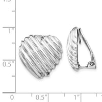 Heart Shaped Sterling Silver Clip Back Earrings