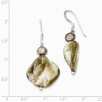 Sterling Silver Light Brown FW Cultured Pearl Earrings