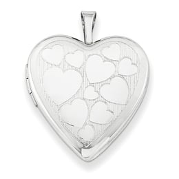 Floating Hearts Silver Locket