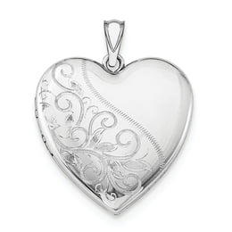 Scrolled Silver Family Heart Locket