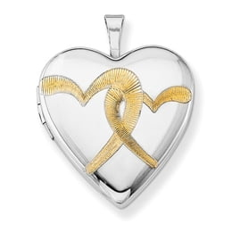 Silver Gold Plated Hearts Locket