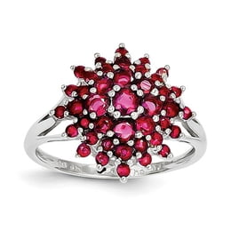Sterling Silver Firework Ruby Ring
