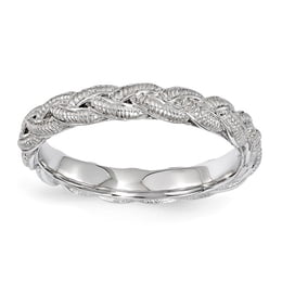 Sterling Silver Twist Stackable Ring