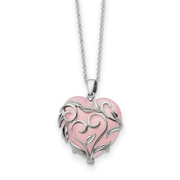 Sterling Silver And Rose Quartz Generous Heart Necklace