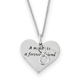 "Silver ""Mom"" Heart Necklace"