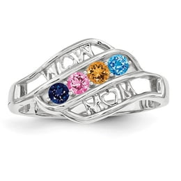 "Silver ""Mom"" Mothers Ring"